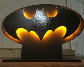 Batman Dark Knight Bat Signal Superhero Logo Tabletop Nightlight