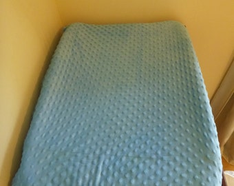 Changemat Cover- Sky Blue Minky Fabric