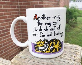 Shoebox Ceramic Mug - Cheshire Cat Wannabe