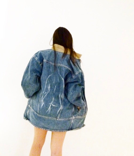 90s Backside Painted Denim Jacket