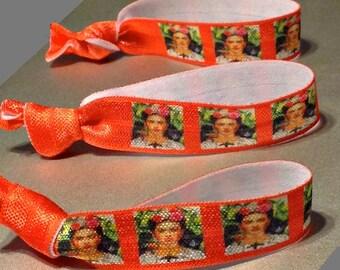 Frida Kahlo,Hair Tie Singles,Munch The Scream, Designer Hair Ties,Elastic Bracelets,Fine Art,Birthday, Gift for Girls, Gift for Women