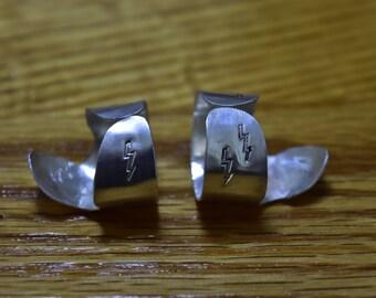 Silver Fingerpicks For Banjo or Guitar M/L