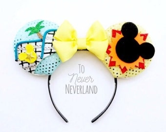 California Screamin' Ears, Paradise Pier Mickey Ears, California Adventure Ears, Mickey Ears, Disney Ride Ears PRE-ORDER Listing
