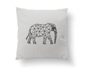 Gold Elephant Pillow, Elephant Pillow, Home Decor, Cushion Cover, Throw Pillow, Bedroom Decor, Geometric Pillow, Modern Pillow, Gold Pillow.