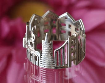 San Francisco Skyline Statement Ring - Gift for Him - Birthday Gift - Mothers Day - Gift for Her