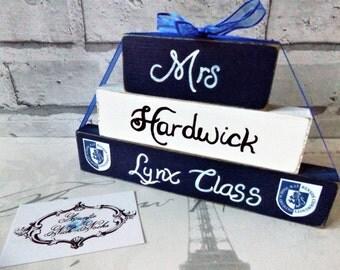 Personalised Teachers Name Block Gift