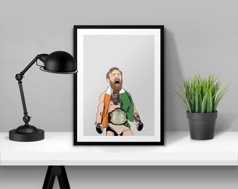 Conor McGregor UFC Illustrated Poster Print | A6 A5 A4 A3