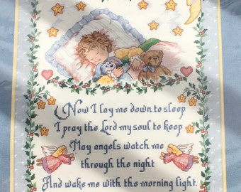 Dimensions Sunset  Counted Cross Stitch Kit 13595 Precious Keepsakes Sleepy Time Prayer Babyhugs Nursery Baby Shower New Sealed