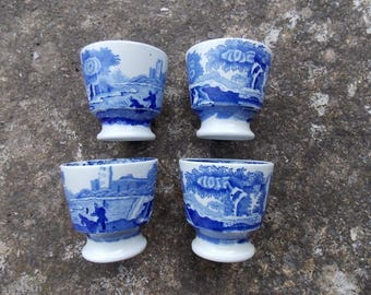 Set of Four Spode Blue Italian Egg Cups