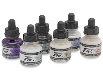 Shimmering Colors FW Artist's Ink, Calligraphy ink, Dip pen ink, art ink, acrylic ink, mixable ink, 29.5 ml bottle, airbrush ink, writing