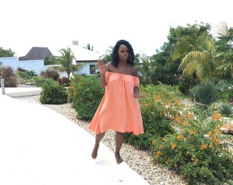 Off The Shoulder Flutter dress