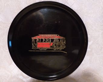 Couroc Of Monterey California Serving Tray Cable Car Design Interesting Display