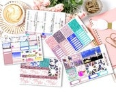 Carrie Sex and the City weekly kits planner stickers || Erin Condren planner vertical layout