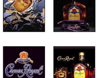 Crown Royal Coaster Set of 4 - Tile Ceramic Drink Coasters
