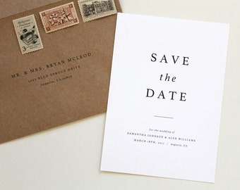 Modern Save the Date, Simple save the date, typography save the date, printable save the date, save-the-date, save the date card