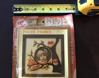 Crewel owl picture frame kit
