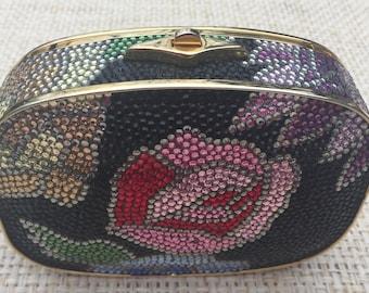 Judith Leiber Flower Swarovski Crystal Handbag   Vintage   *s