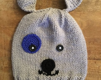 sweet grey puppy fit for a boy or a girl !