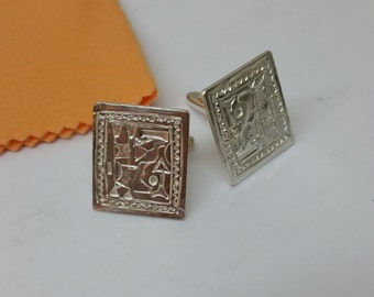 800 silver of cufflinks cuff links handmade old MS100