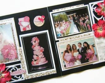 Premade scrapbook   Etsy. Premade Wedding Scrapbook. Home Design Ideas