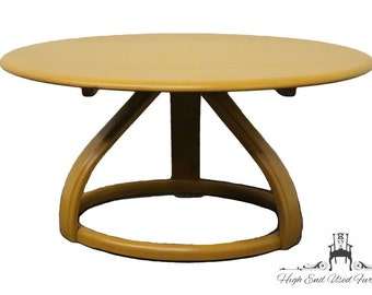 "HEYWOOD WAKEFIELD Crescendo 32"" Round Mid Century Modern Coffee Table C3548"