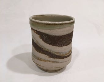 Multi Color ClayTea Bowl, Handmade Ceramic Bowl, 9 oz. MCCTB11