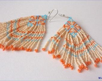 Woven seed beads earrings