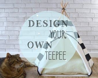 Cat bed Cat teepee Dog teepee - design your own teepee