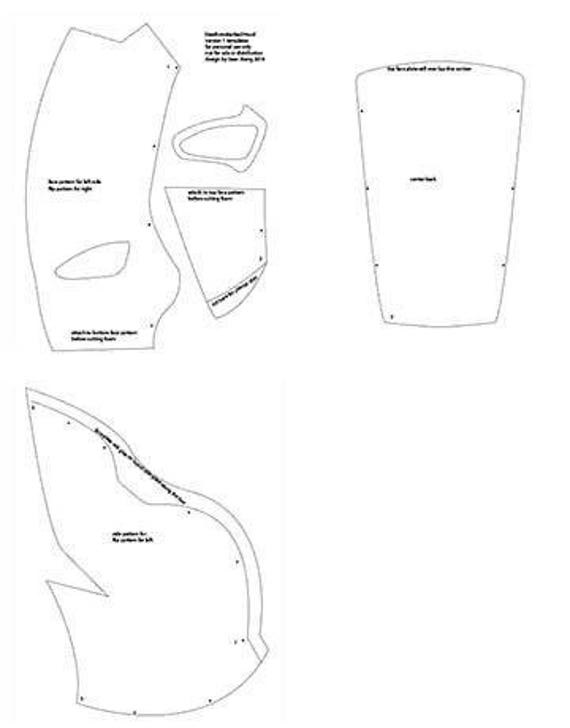 Deathstroke redh0od printable templates from xiengprod on for Deathstroke armor template