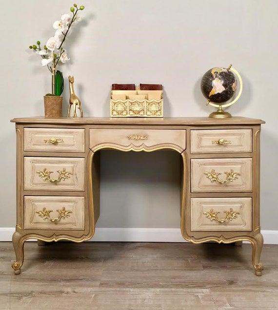 antique desk provincial vintage furniture