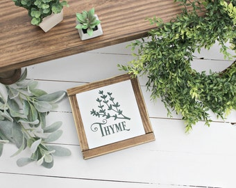 Thyme ~ Herb wood sign~ Farmhouse sign