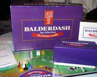 Vintage (c.1984) Balderdash board game.  The Hilarious Bluffing Game.  Complete.