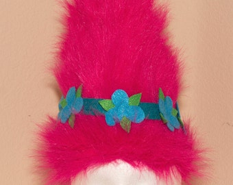 "Gorgeous Dreamworks Trolls ""Poppy"" inspired custom headpiece.  Every little girl's favorite troll!"