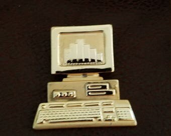 AJC Computer brooch pin