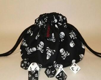 Dice pouch skulls