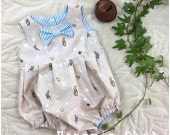 Boys Romper, Boys Overalls, Baby Boys Romper, Baby Boys Easter, Easter Outfit, Peter Rabbit