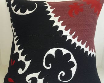 FREE SHIPPING!Suzani Samarkand Vintage Handmade Pillow, Pillowcase,Pillow cover