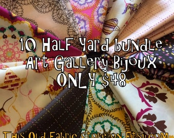 Art Gallery Bijoux Half Yard Fabric Bundle SALE - 10 Half Yard Bundle ONLY 48.00