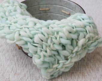 Merino Wool Knit Mini Blanket for Newborn Infant Photography Prop, Handmade, Photography Prop, Knit Blanket