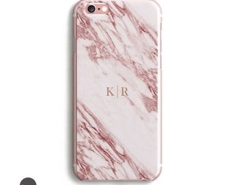 Marble iPhone, iPhone 7 Case, Marble Phone Case, Pink Marble iPhone 6 case, iphone 7 case marble // Personalized or not