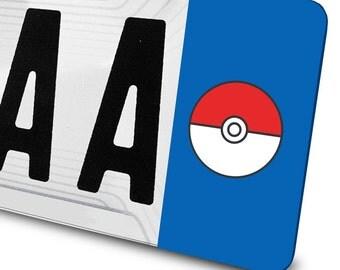 Sticker Pokeball - Pokemon - for registration plates
