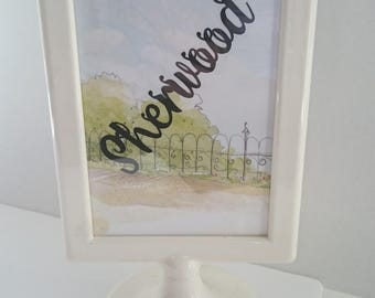 Woodland themed - wedding Table Name Stands - wedding reception - reception table - themed Wedding