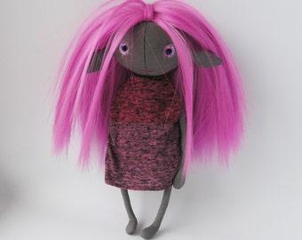Ooak art doll fairy fantasy linen doll forest fairy elf doll