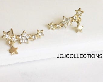 CZ Star Earrings, Simple, Minimalist Earrings