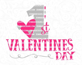 Valentines svg cut files, 1st valentines svg, valentines day svg, first valentines day svg, 1st svg, svg valentines, Zemma Designs