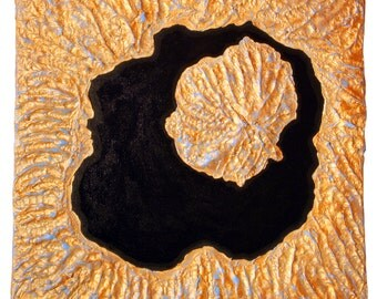 Onekotan Island Satellite View Abstract Textured Landscape Painting by Vincent Reed