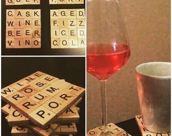 Personalised Scrabble Coasters