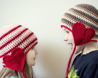 valentine day crochet hat kids valentine day hat valentine day photography prop valentine
