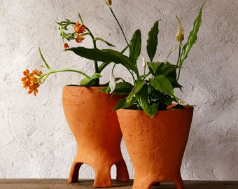 Ceramic Planter Clay Pot rustic home decor