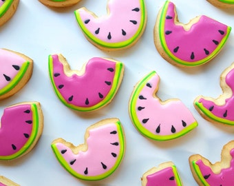 Pineapple & Watermelon Cookies